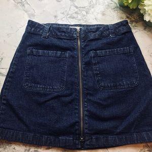 Madewell Womens Denim Zipper Skirt